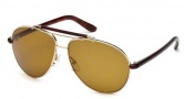 Tom Ford FT0244 Bradley Sunglasses Sunglasses - 28J Shiny Rose Gold / Roviex
