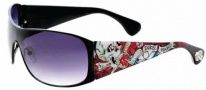 Ed Hardy Roxy Sunglasses Sunglasses - Black / Grey Gradient