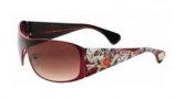 Ed Hardy Roxy Sunglasses Sunglasses - Matte Red / Grey Gradient