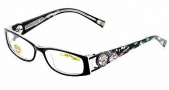 Ed Hardy EHO 718 Eyeglasses Eyeglasses - Black / Crystal