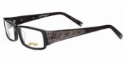Ed Hardy EHO 724 Eyeglasses Eyeglasses - Black