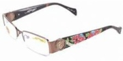 Ed Hardy EHO 726 Eyeglasses Eyeglasses - Shiny Brown