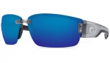 Costa Del Mar Rockport Sunglasses Silver Frame Sunglasses - Blue Mirror / 580P