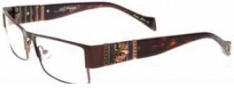 Ed Hardy EHO 733 Eyeglasses Eyeglasses - Shiny Brown