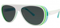 OGI Eyewear 8050 Sunglasses Sunglasses - 1292 White Lime Trans / Baby Blue