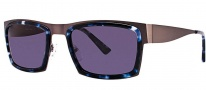 OGI Eyewear 8053 Sunglasses Sunglasses - 1375 Light Gunmetal / Blue Demi