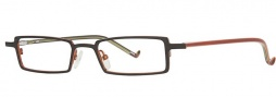 OGI Eyewear 2216 Eyeglasses Eyeglasses - 930 Black Orange / Brown Ripple Tangerine