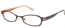 OGI Eyewear 2219 Eyeglasses Eyeglasses - 738 Dark Brown / Burnt Orange
