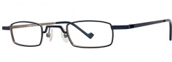 OGI Eyewear 2228 Eyeglasses Eyeglasses - 757 Navy Gunmetal