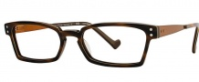OGI Eyewear 3063 Eyeglasses Eyeglasses - 358 Brown Cadet / Stripe Orange