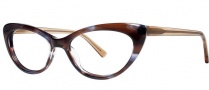 OGI Eyewear 3114 Eyeglasses  Eyeglasses - 1455 Blue Brown Streak / Light Brown