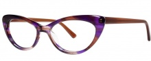 OGI Eyewear 3114 Eyeglasses  Eyeglasses - 1454 Purple Brown Streak / Brown