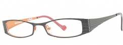 OGI Eyewear 4007 Eyeglasses Eyeglasses - 402 Black / Orange