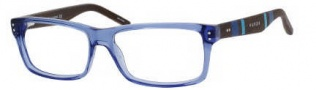 Tommy Hilfiger 1136 Eyeglasses Eyeglasses - 0H1Y Transparent Blue / Dark Wood
