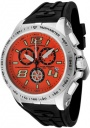 Swiss Legend Men's Sprint Racer 80040 Watch Watches - 80040-06 Black Rubber / Stainless Steel Case / Orange Dial