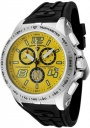 Swiss Legend Men's Sprint Racer 80040 Watch Watches - 80040-07 Black Rubber / Stainless Steel Case / Yellow Dial
