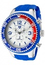 Swiss Legend Men's Neptune 11812P Watch Watches - 11812P-02S-RBL Blue Silicone Strap / Silver Dial