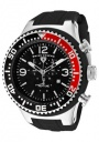 Swiss Legend Men's Neptune 11812P Watch Watches -  11812P-01-RB Black Silicone Strap / Black Dial