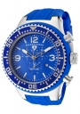 Swiss Legend Men's Neptune 11812P Watch Watches - 11812P-03B Blue Silicone Strap / Blue Dial