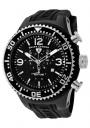Swiss Legend Men's Neptune 11812P Watch Watches - 11812P-BB-01SA Black Silicone Strap / Black Dial