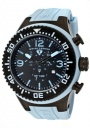 Swiss Legend Men's Neptune 11812P Watch Watches - 11812P-BB-01BBL Light Blue Silicone / Black Dial