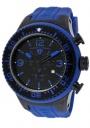 Swiss Legend Men's Neptune 11812P Watch Watches - 11812P-BB-01BL Blue Silicone Strap / Black Dial