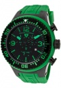 Swiss Legend Men's Neptune 11812P Watch Watches - 11812P-BB-01G Green Silicone Strap / Black Dial