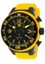 Swiss Legend Men's Neptune 11812P Watch Watches - 11812P-BB-01Y Yellow Silicone Strap / Black Dial