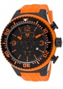 Swiss Legend Men's Neptune 11812P Watch Watches - 11812P-BB-01O Orange Silicone Strap / Black Dial