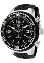 Swiss Legend Men's Neptune 11812P Watch Watches - 11812P-01 Black Silicone Strap / Black Dial