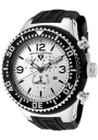 Swiss Legend Men's Neptune 11812P Watch Watches - 11812P-02S Black Silicone Strap / Silver Dial