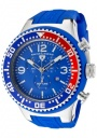 Swiss Legend Men's Neptune 11812P Watch Watches -  11812P-03B-RBL Blue Silicone Strap / Blue Dial