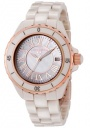 Swiss Legend Women's Karamica 20050 Watch Watches - 20050-BGWRR Beige Ceramic Band / White Mother of Pearl Dial