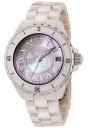 Swiss Legend Women's Karamica 20050 Watch Watches - 20050-BGWSR Beige Ceramic Band / White Mother of Pearl Dial