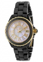 Swiss Legend Women's Karamica 20050 Watch Watches - 20050-BKWGR1 Black Ceramic Band / White Mother of Pearl Dial