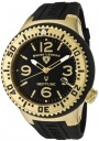 Swiss Legend Neptune 21848D Watch Watches - 21848P-YG-01 Black Rubber / Black Dial