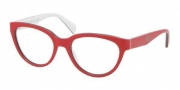 Prada PR 10PV Eyeglasses Eyeglasses - KA0101 Top Red / Gray / White Demo Lens
