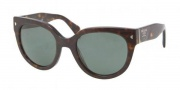 Prada PR 17OS Sunglasses Sunglasses - 2AU301 Havana Green
