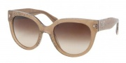 Prada PR 17OS Sunglasses Sunglasses - JAW6S1 Lace Sand Brown Gradient
