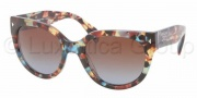 Prada PR 17OS Sunglasses Sunglasses - NAG0A4 Havana Spotted / Blue Brown Gradient