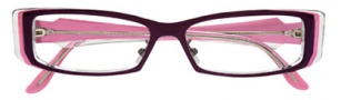 BCBGMaxazria Adele Eyeglasses Eyeglasses - AUB Aubergine