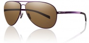 Smith Optics Ridgeway Sunglasses Sunglasses - Matte Purple / Polarized Brown