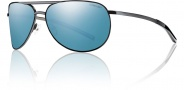 Smith Optics Serpico Slim Sunglasses Sunglasses - Black / Polarized Blue Mirror