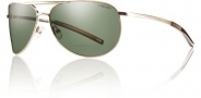 Smith Optics Serpico Slim Sunglasses Sunglasses - Gold / Polarized Gray Green