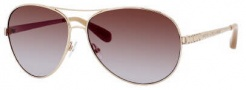 Marc by Marc Jacobs MMJ 184/S/STS Sunglasses Sunglasses - 0AU2 Gold Red (FM Brown VLT Shade Lens)