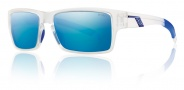 Smith Optics Outlier Sunglasses Sunglasses - Matte Clear / Polarized Blue Mirror