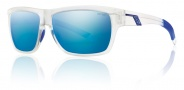 Smith Optics Mastermind Sunglasses Sunglasses - Matte Clear / Polarized Blue Mirror