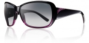 Smith Optics Hemline Sunglasses Sunglasses - Black Violet Split / Polarized Gray Gradient