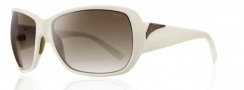 Smith Optics Hemline Sunglasses Sunglasses - Ivory / Brown Gradient