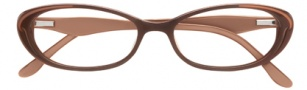 BCBGMaxazria Devyn Eyeglasses Eyeglasses - BRO Brown Laminate 